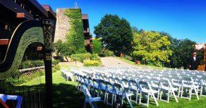 Harp At Outdoor Wedding